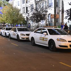 8:45 p.m. Illlinois State Police units parked on Sheffield -