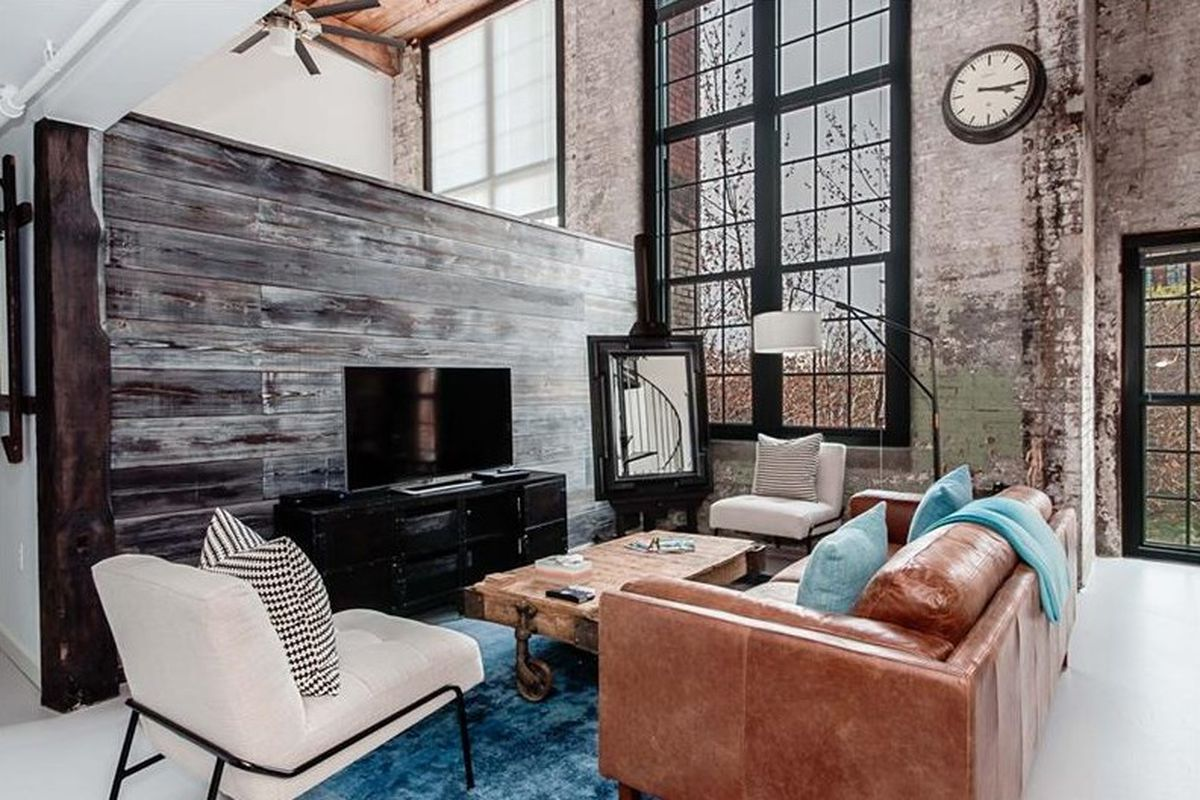 A renovated loft in Atlanta's Cabbagetown Stacks Lofts that's for sale.
