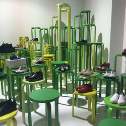 Crazy-tall stools isn't something we've seen in a supermarket before, though...
