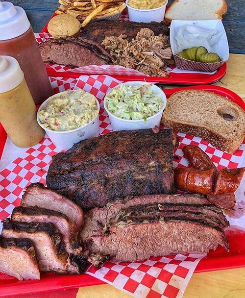 A sampling of the dry rubbed and slow-smoked barbecue menu, still be served at Big B's Texas BBQ.