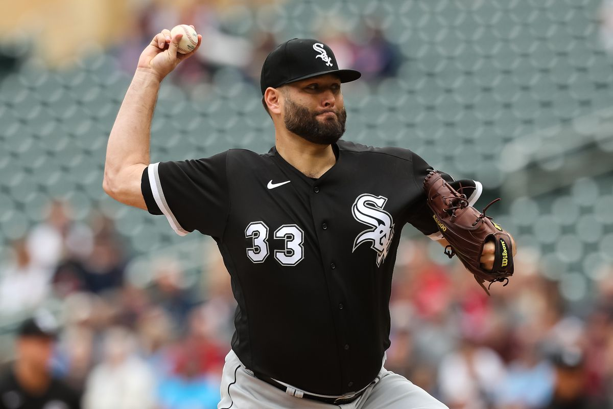 White Sox pitcher Lance Lynn delivers against the Twins Wednesday afternoon.