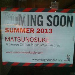 Signage for Matsunosuke in the West Village. [Photo: Robert Siestema]