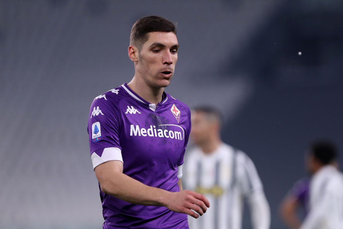 Nikola Milenkovic of Acf Fiorentina looks on during the...