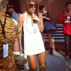 """""""Meanwhile.. downstairs at the office. @anna_dello_russo after the @itsjeremyscott show at @milkstudios"""" - Tennis Jun/<a href=""""http://instagram.com/p/eIijBhMUGK/"""">Instagram</a>"""