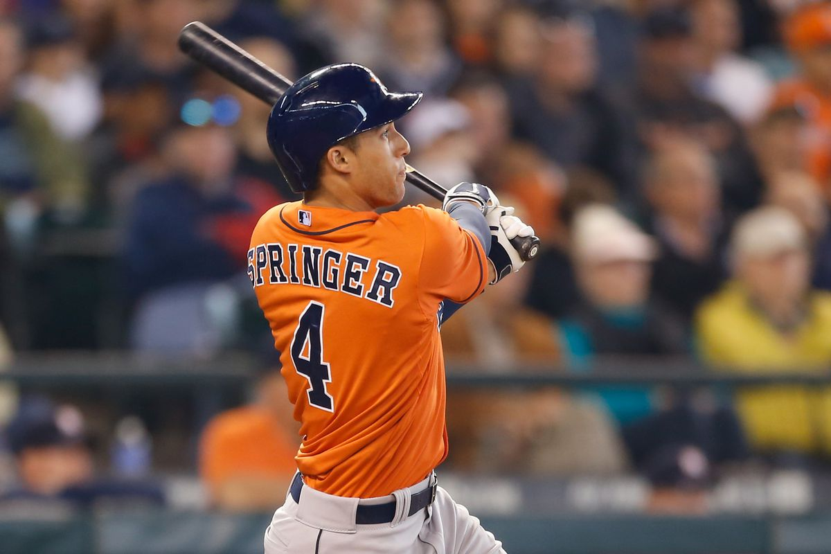 Highly touted rookie George Springer hit 10 home runs in May.