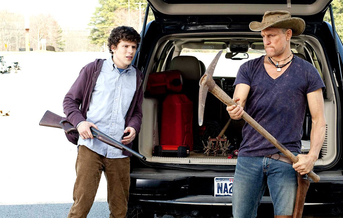 Jesse Eisenberg and Woody Harrelson in Zombieland.