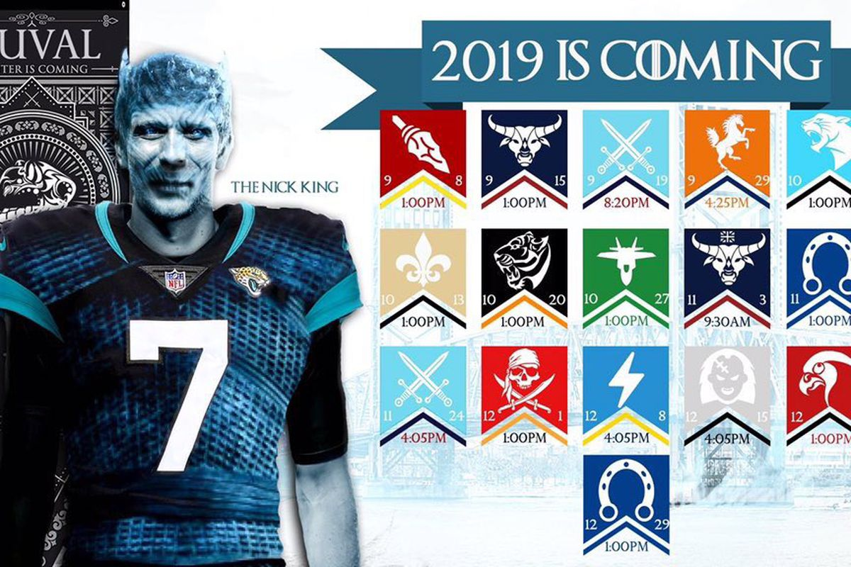 b571b4df 2019 Jacksonville Jaguars official NFL schedule released - Big Cat ...