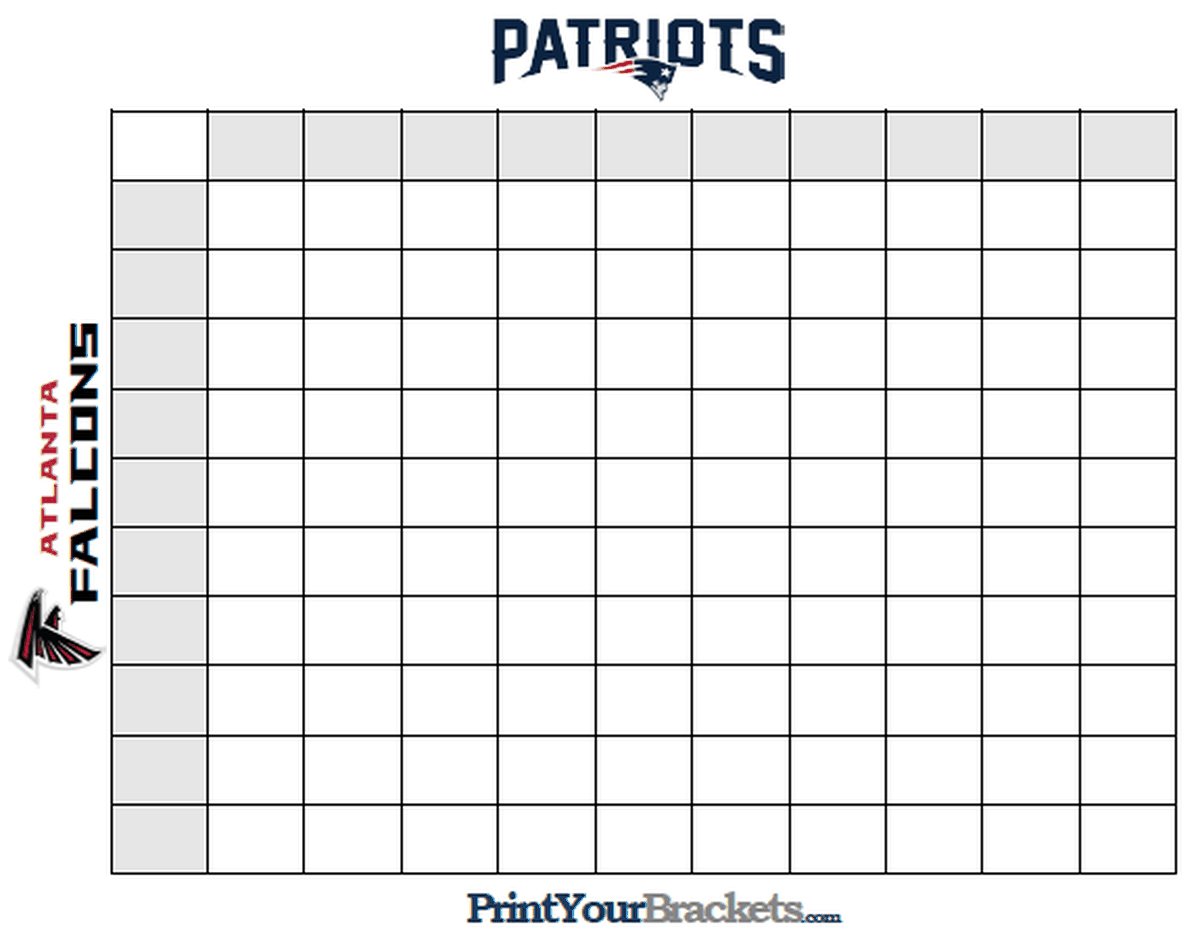 This is an image of Divine Super Bowl Grid Printable
