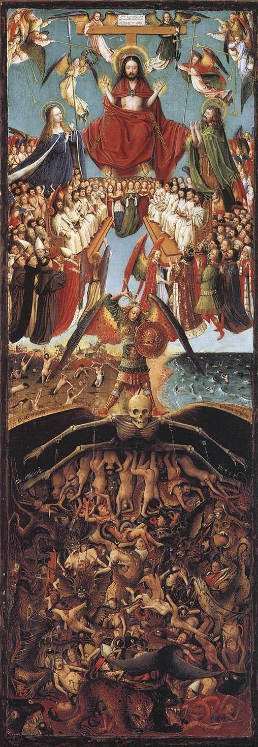 """""""The Last Judgment,"""" Jan Van Eyck."""