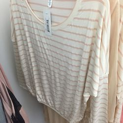 Striped slouchy tee, $10