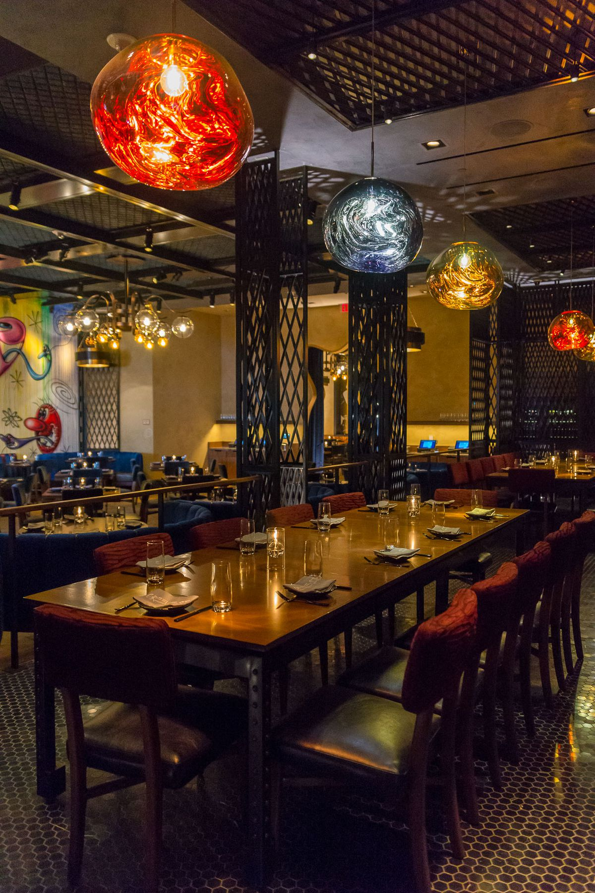 The private dining room at Greene St. Kitchen