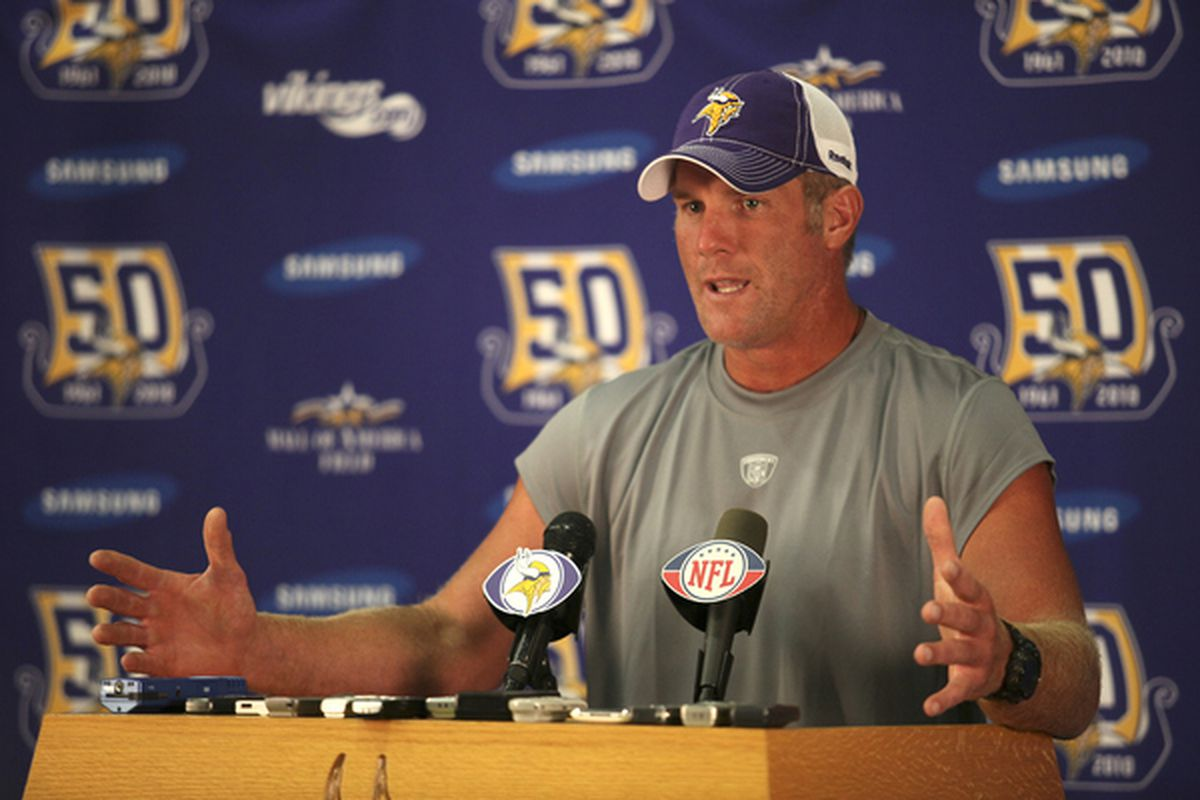 """""""Hey y'all, I'm back with the Vikings for another shot at the Super Bowl with my boys. But enough about me--did you guys hear that Eric from Daily Norseman is getting married this weekend?!"""""""