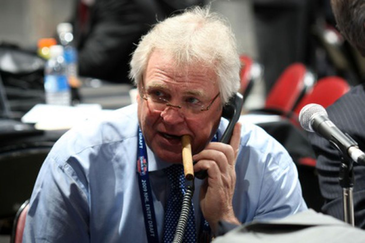 """<em>When you search """"NHL CBA"""" in Google Images, this picture of Glen Sather pops up second. That is ten kinds of awesome.</em>"""