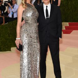 Anna Ewers wears Jason Wu alongside the designer.