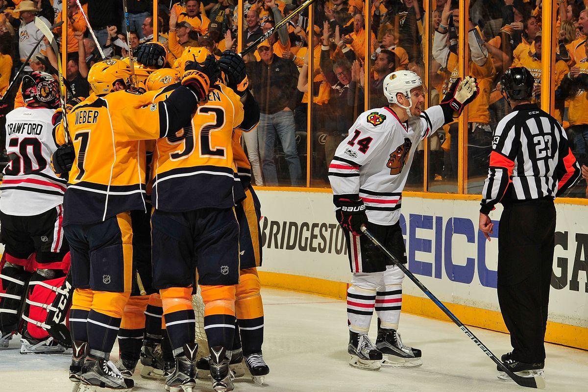 Chicago Blackhawks v Nashville Predators - Game Three