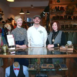"""Market Supply Co. Owners Merl Kinzie of <a href=""""http://clydesrebirth.bigcartel.com/"""">Clyde's Rebirth</a>, """"Mustache Mike"""" of <a href=""""http://www.midnorthmercantile.us/"""">Midnorth Mercantile</a>, and Karen Dethrow of <a href=""""http://www.dethrosevintage.com"""