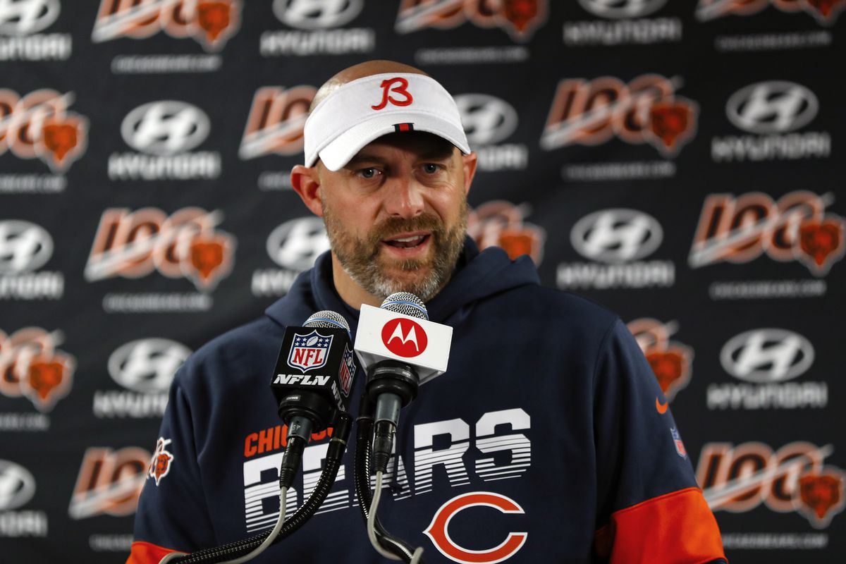 Matt Nagy is taking his 4-1 Bears to Charlotte to face the Panthers.