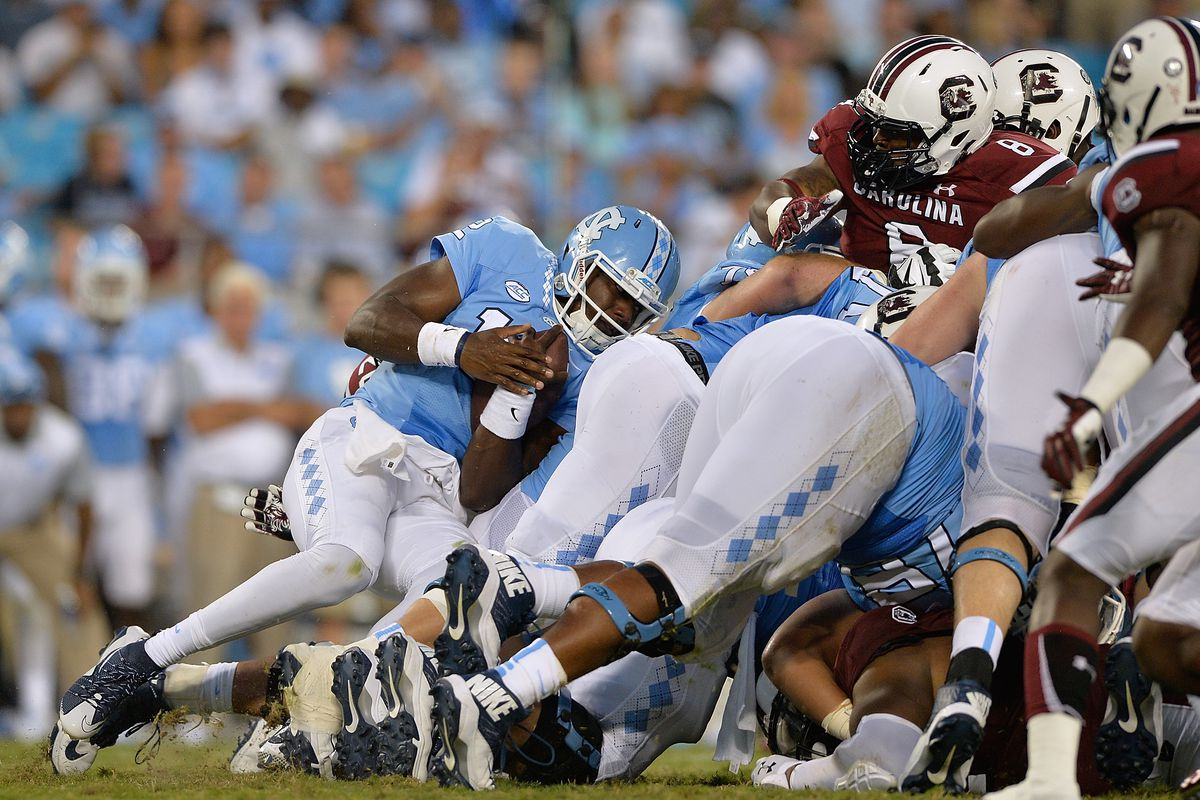 Marquise Williams failed 4th and 1 attempt is a great metaphor for UNC's game with SCAR