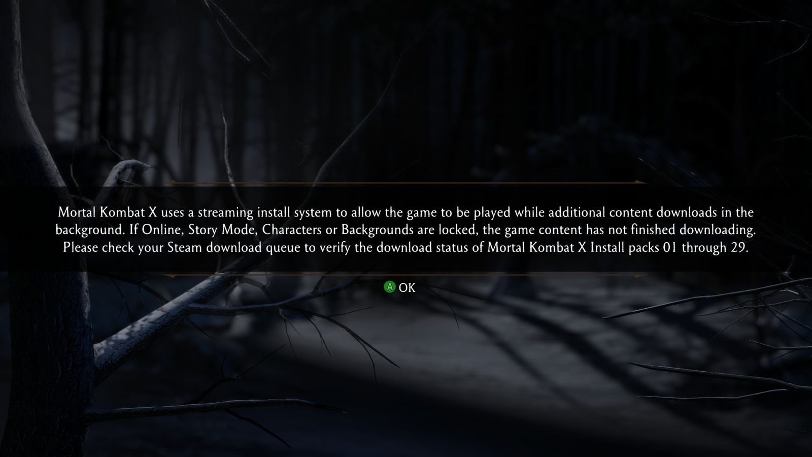 Mortal Kombat X uses a new Steam 'streaming install'     and messes