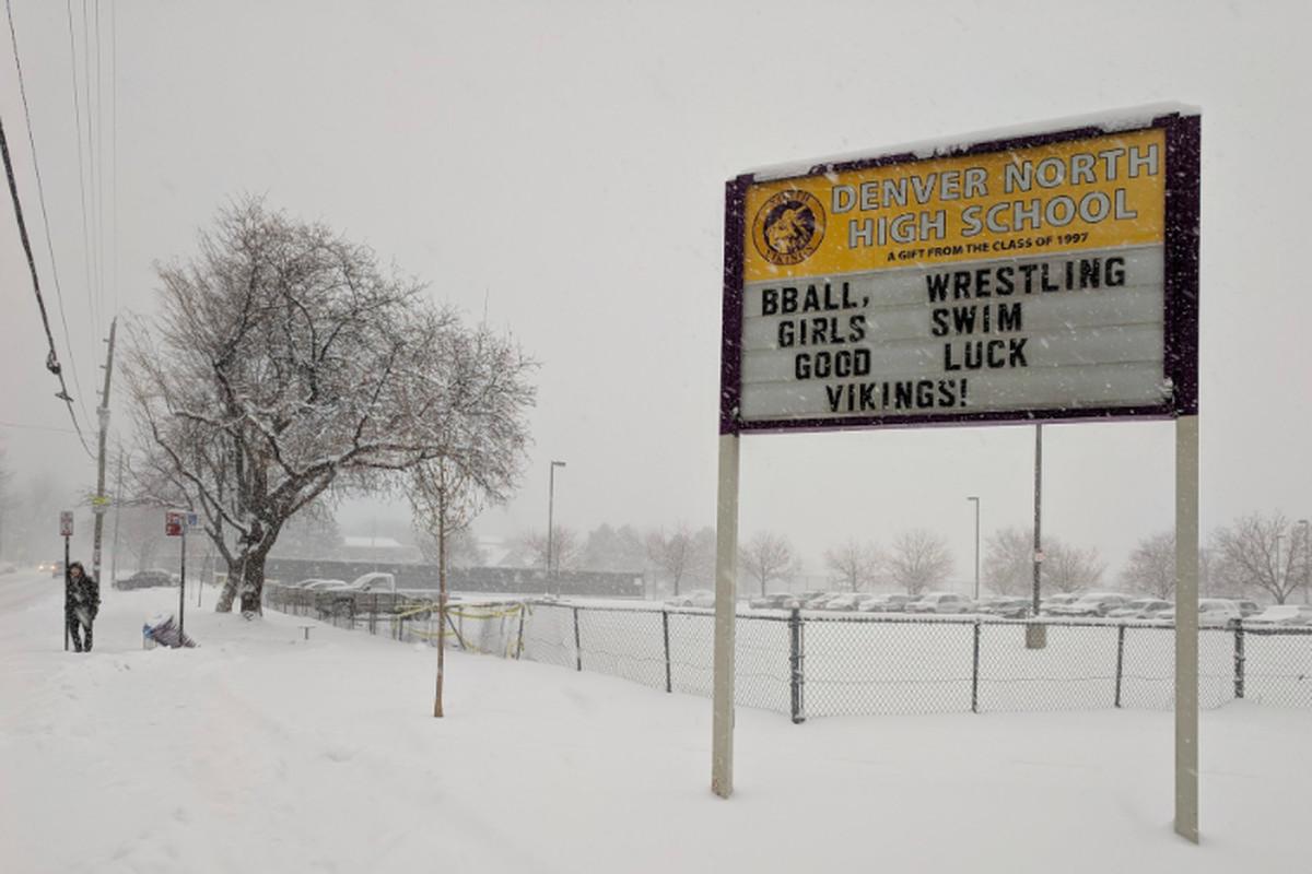 Denver Public Schools were open for business Monday, despite heavy snowfall.
