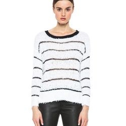 """A.L.C. Hughes sweater in white and navy, $218 at <a href=""""http://www.forwardforward.com/fw/DisplayProduct.jsp?code=ALC-WK23&d=Womens"""">Forward by Elyse Walker</a>"""