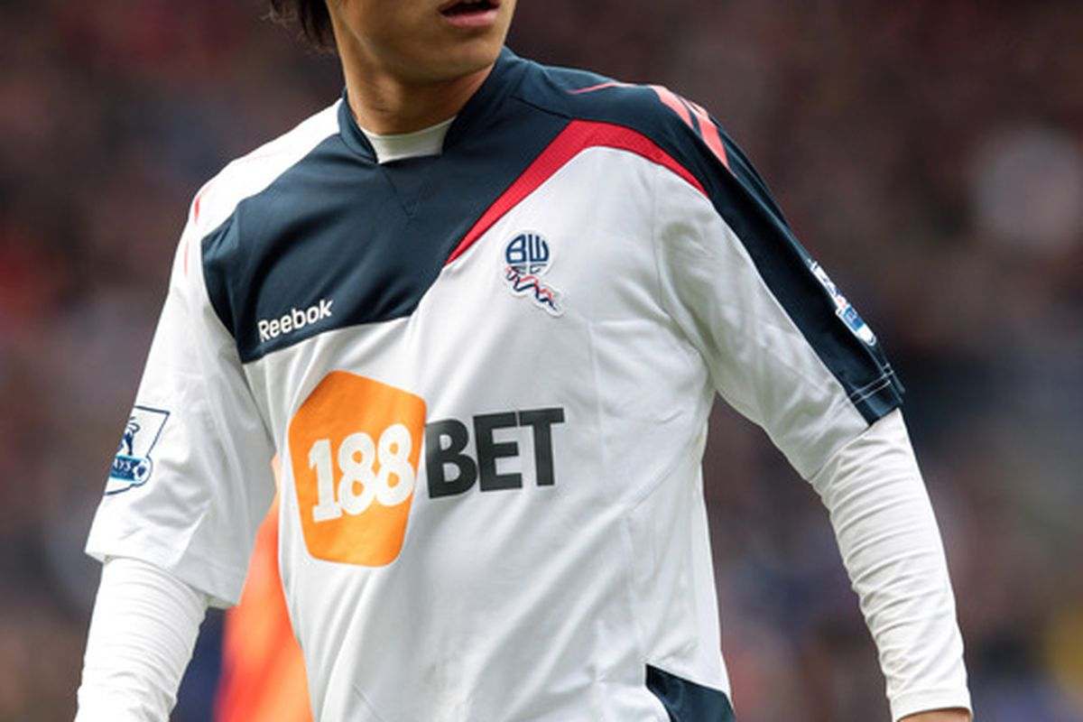 BOLTON, ENGLAND - MARCH 10:  Ryo Miyaichi of Bolton in action during the Barclays Premier League match between Bolton Wanderers and Queens Park Rangers at Reebok Stadium on March 10, 2012 in Bolton, England.  (Photo by Ross Kinnaird/Getty Images)