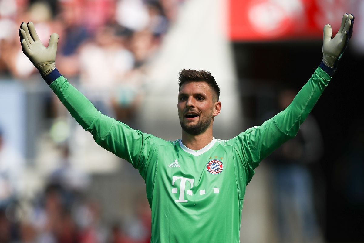 COLOGNE, GERMANY - MAY 05: Sven Ulreich #26 of Bayern Munich reacts during the Bundesliga match between 1. FC Koeln and FC Bayern Muenchen at RheinEnergieStadion on May 5, 2018 in Cologne, Germany.
