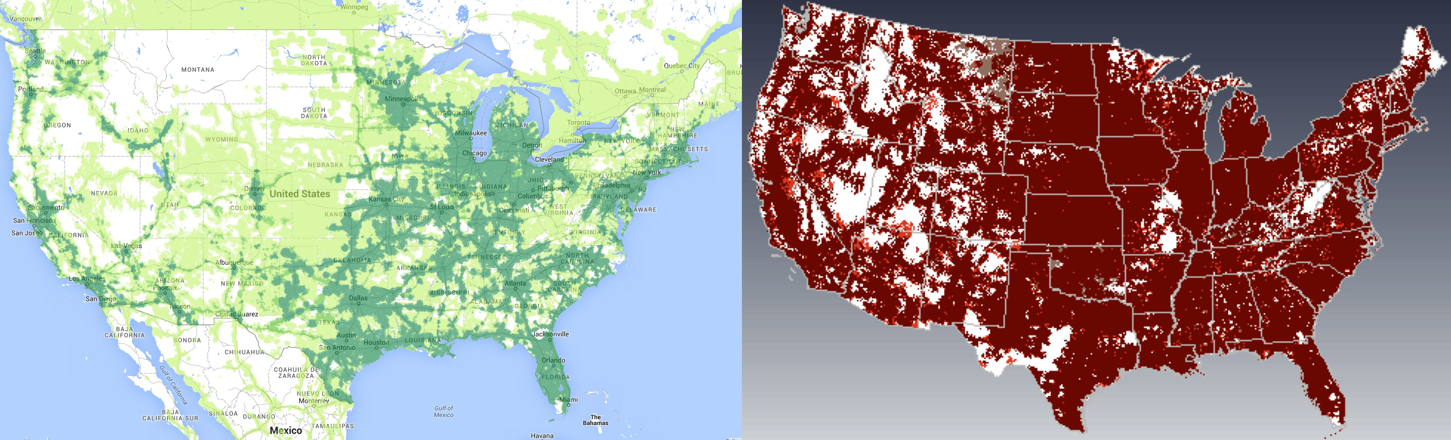How Does Google Fis Coverage Compare To ATT And Verizon The Verge - Us cellular coverage map vs verizon