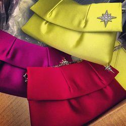 "Satin clutches, $19.99. Photo via <a href=""http://instagram.com/p/X8X24NKImY/"">mandykauf</a>/Instagram."