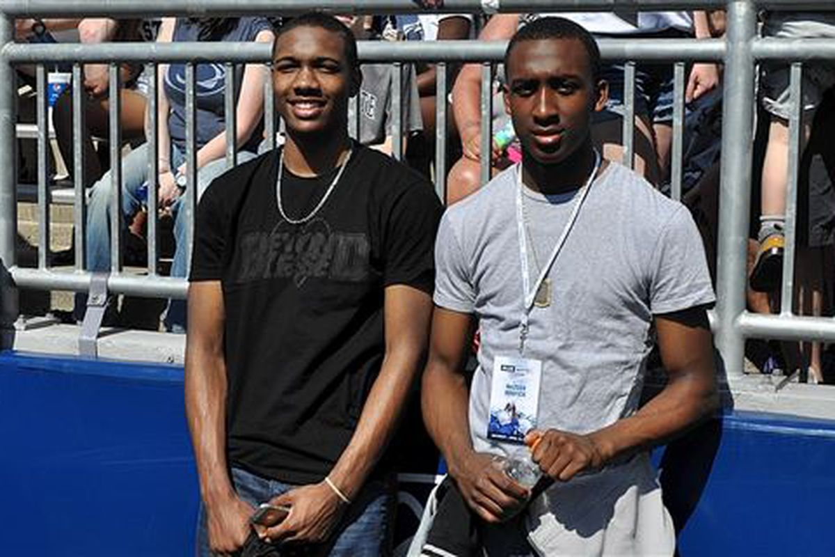 Nazeer Bostick (Right) and Tony Carr (Left) Photo: Sean Fitz, 247 Sports