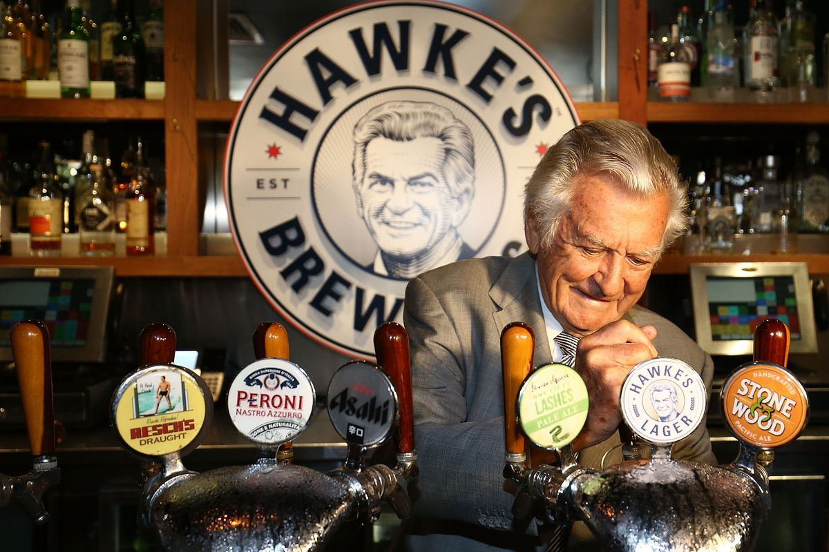 Former Prime Minister Bob Hawke Launches Beer Bearing His Name