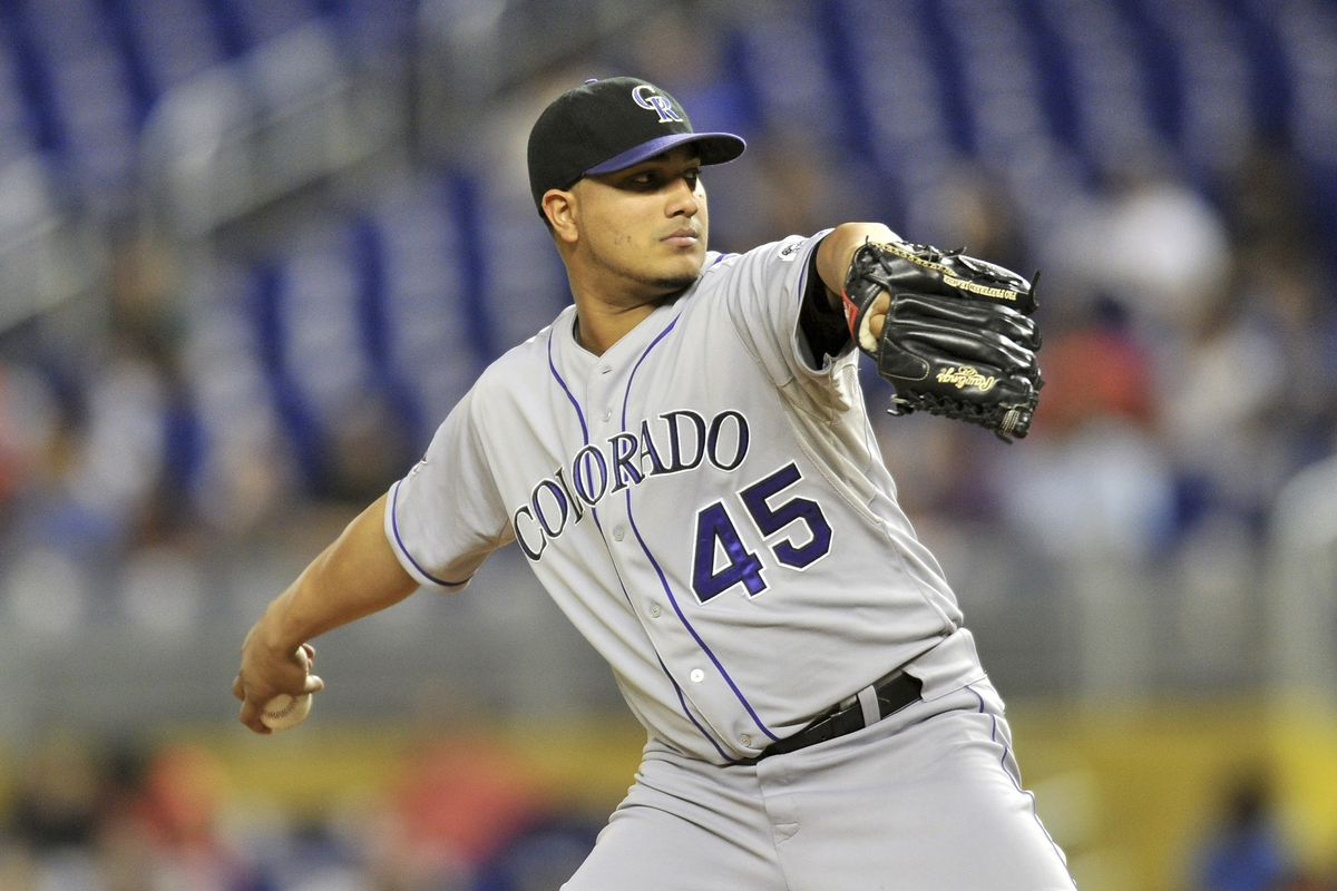Jhoulys Chacin looks for his 14th win of the season tonight against the Dodgers.