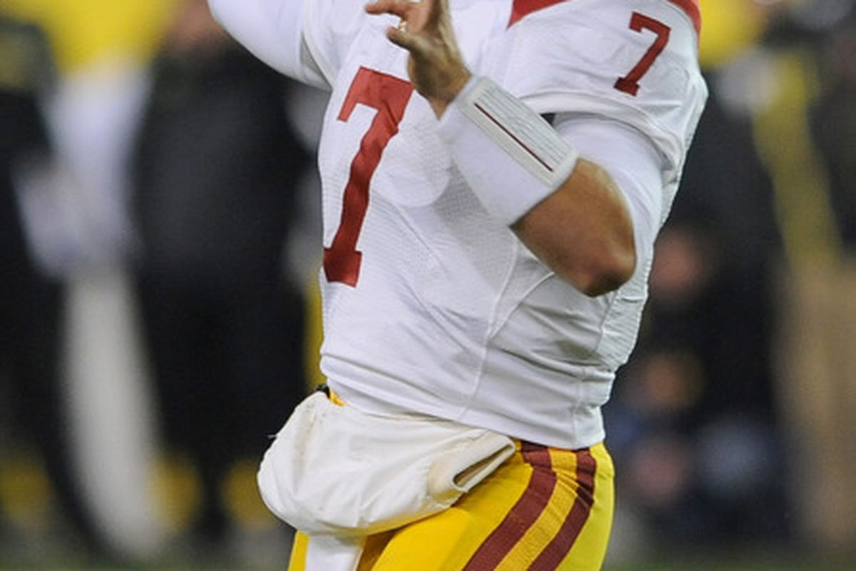 Matt Barkley should go number one overall in most Pac-12 fantasy football drafts.