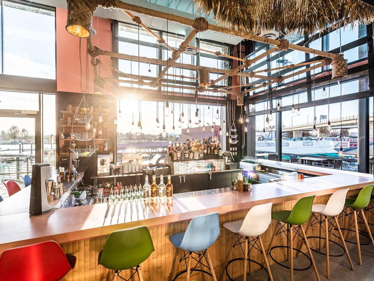 The upstairs bar at Tiki TNT