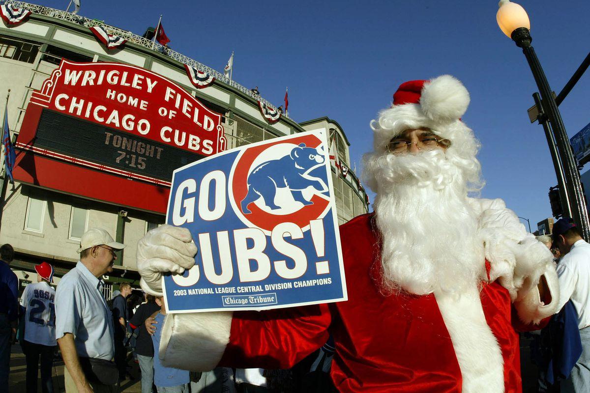 Santa Claus greets fans