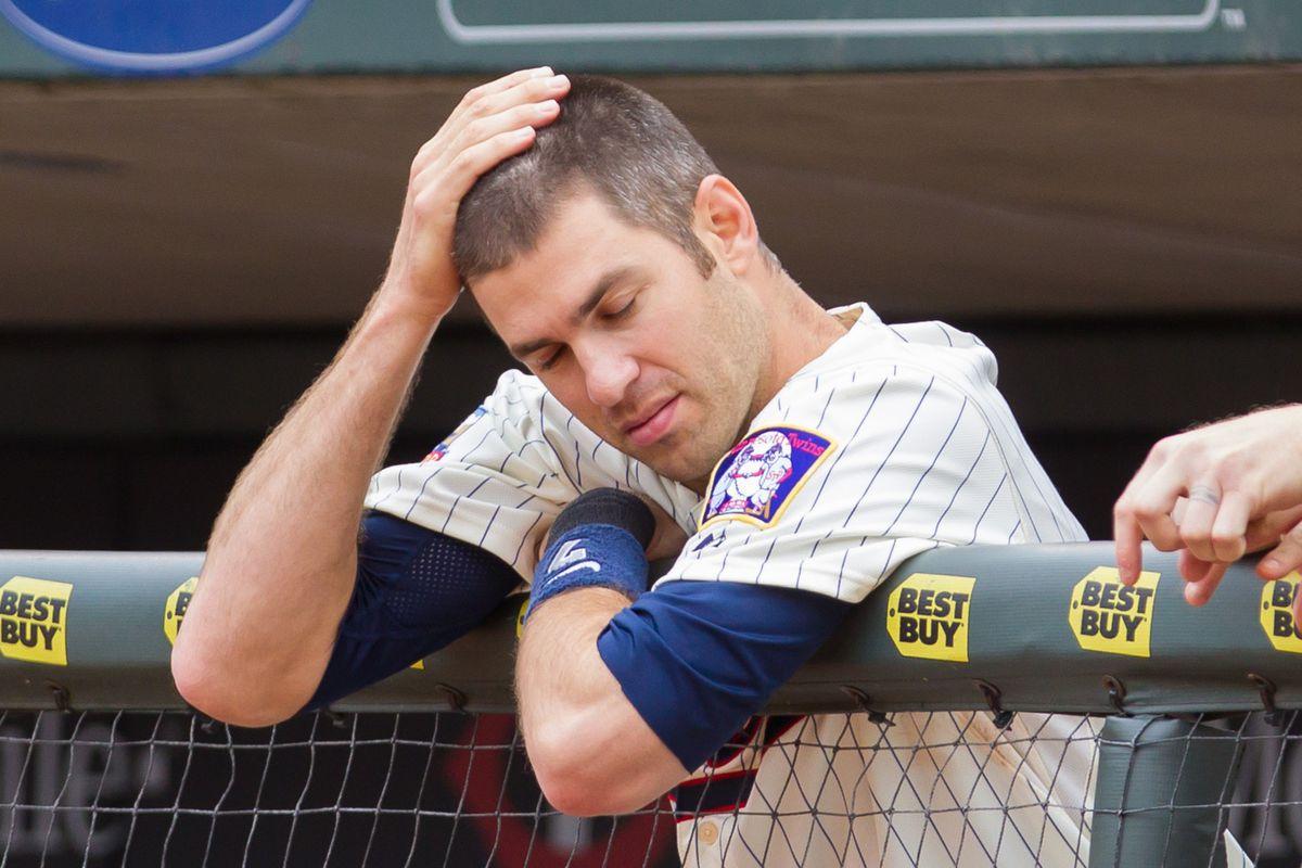 He's got WHITE HAIR! Could that be why Joe isn't hitting?