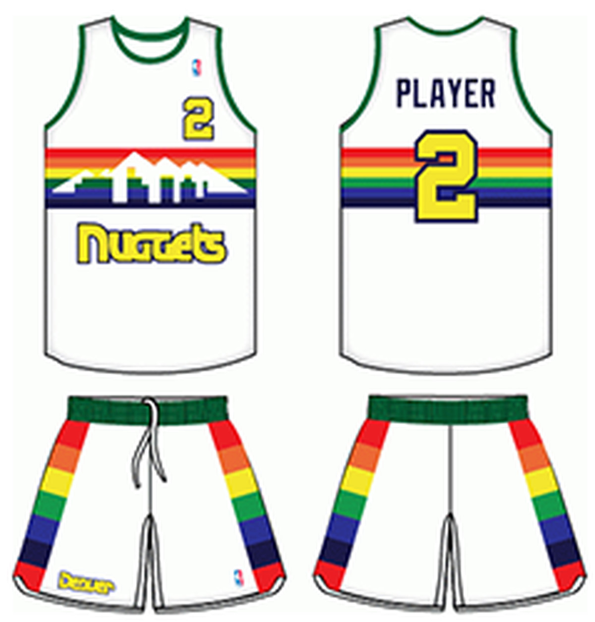 Nuggets Jersey Rainbow: Canada Denver Nuggets Rainbow Jersey White 3e4ac B10b5