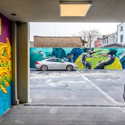 Every June, artists will return to create new artwork on the mural wall.