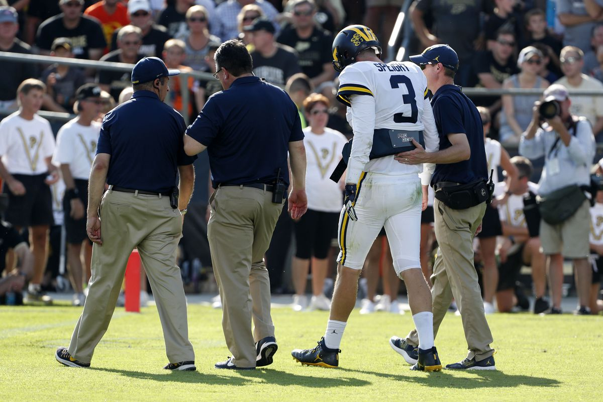 Jim Harbaugh names starting QB for Saturday's game at Indiana