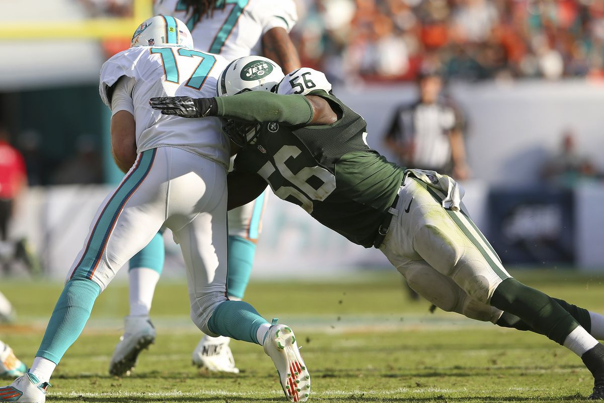 This was the scene plenty on Sunday as Ryan Tannehill was sacked seven times against the Jets.
