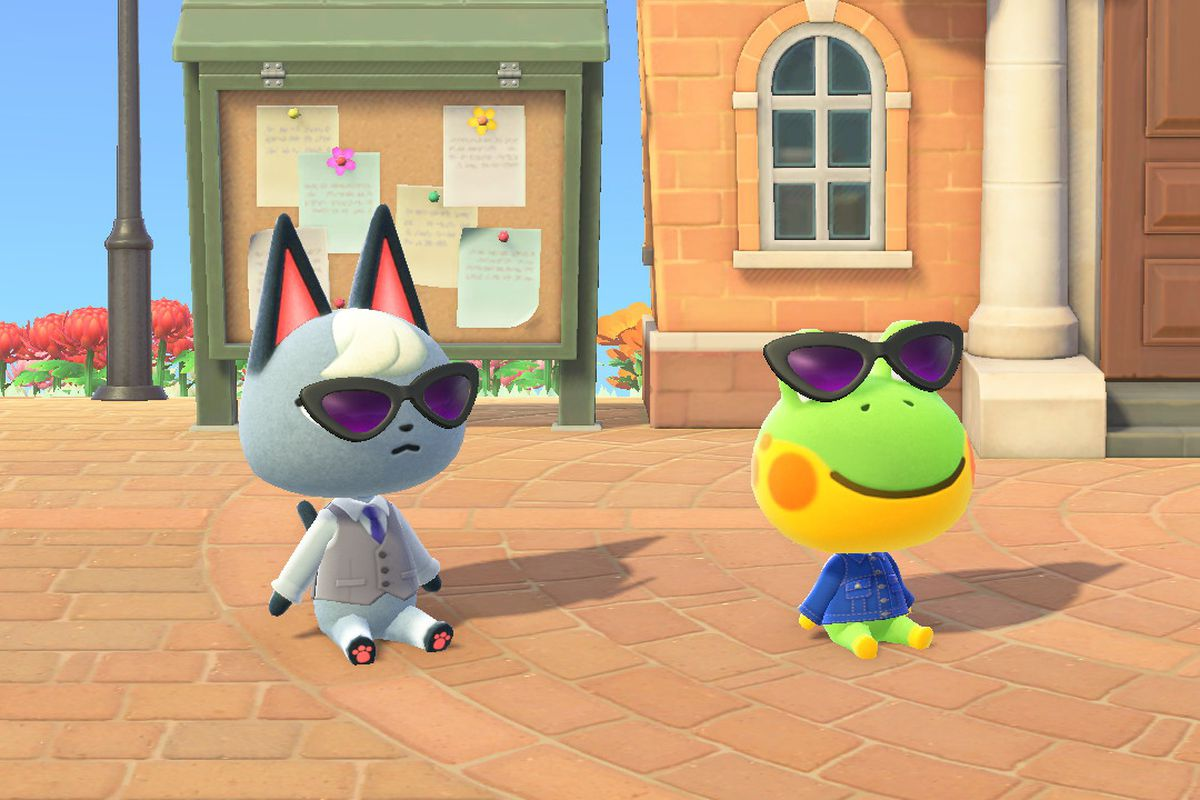 Raymond and Henry in Animal Crossing sit down