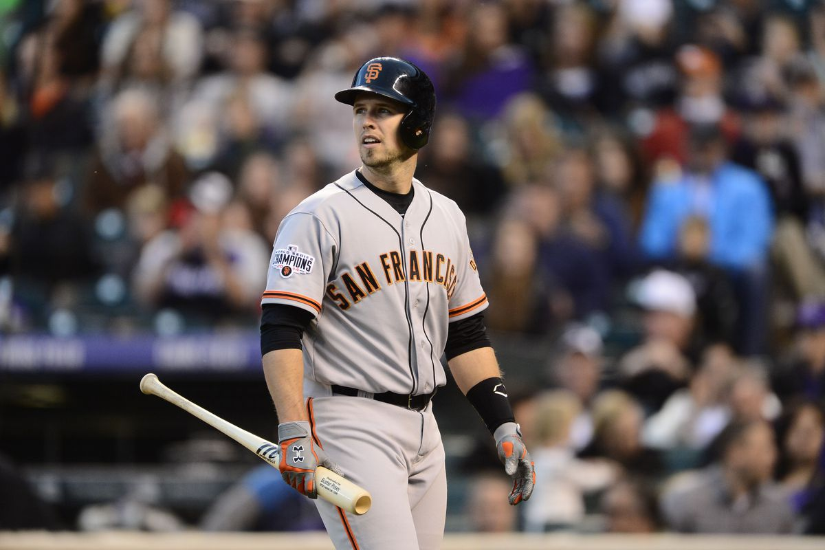 Buster Posey in his natural state: being out.