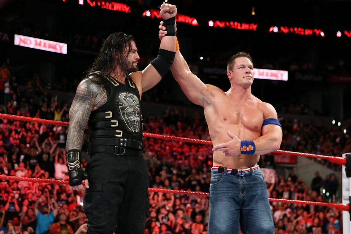 Rumor Roundup Reigns Cena Mixed Match Challenge Raw 25 More Cageside Seats