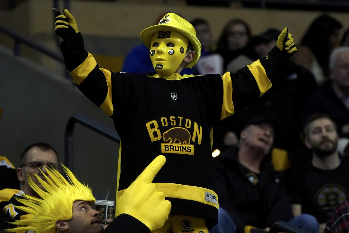 A Bruins fan's remarkable costume