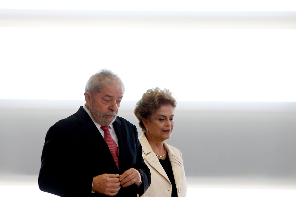 Brazil's former president, Luiz Inacio Lula da Silva, is sworn in as the new chief of staff for embattled President Dilma Rousseff