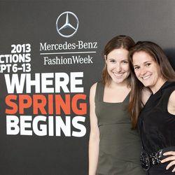 Anna and Susan at Mercedes-Benz Fashion Week