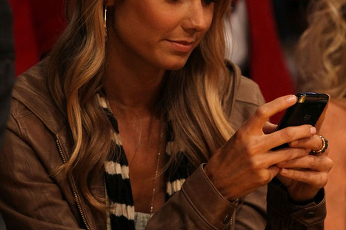 Sadly, Ms. Keibler is not texting me. (Photo by Jeff Gross/Getty Images)