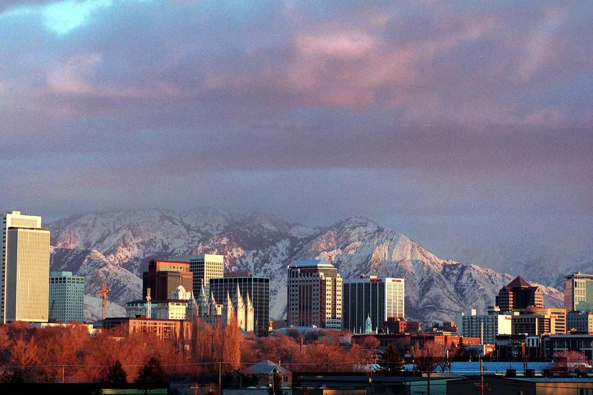 FILE - The Salt Lake City skyline. An undercurrent of frustrations from some elected officials in southwest Salt Lake County has spurred a Utah lawmaker to sponsor a bill that could lead to a fragmentation of Utah's densest county.