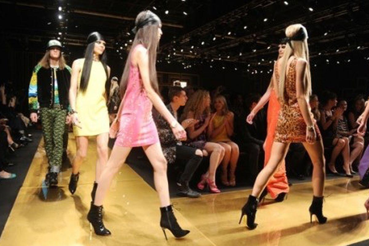 H&M X Versace's 2011 runway