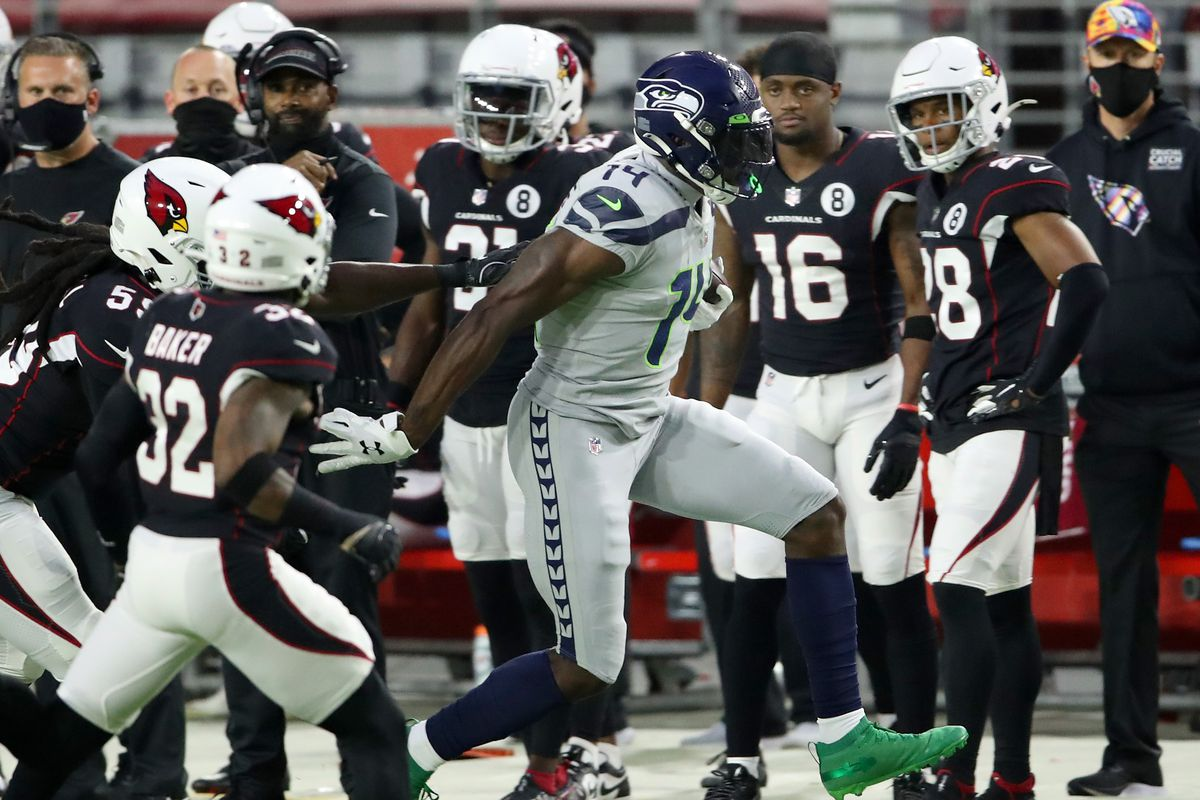Seahawks Cardinals Here S How Fast Dk Metcalf Ran On Touchdown Saving Tackle Field Gulls